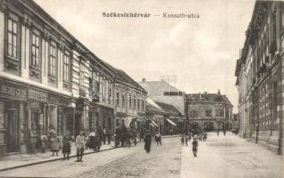 Székesfehérvár, Kossuth utca, Redei Géza, Robitsek Sándor és Fölkert József üzlete