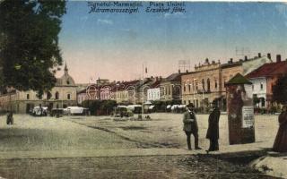 Máramarossziget, Sighetu Marmatiei; Erzsébet főtér, kiadja Weisz Elemér / main square (Rb)