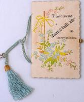 cca 1900-1940 Táncrencd Csornai kath.kör táncvigalmára, díszes tartóban.