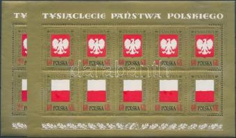 1966 1000 éves Lengyelország kisívsor Mi 1689-1692
