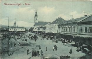 Máramarossziget, Sighetu Marmatiei; Főtér / main square (ázott sarkak / wet corners)