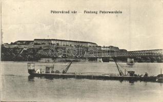 Újvidék, Novi Sad; Péterváradi vár, uszály / castle, barge