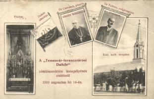 Temesvár, Timisoara; Ferenczvárosi Dalkör, Római katolikus templom és főoltára, belső, Dr. Csernoch és Dr. Telbisz / Roman Catholic church, interior, choir (EB)