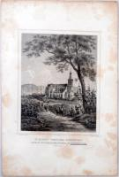 cca 1840 Ludwig Rohbock (1820-1883): Sz. Mihály temploma Sopronban, acélmetszet, 14x11 cm./ cca 1940 Ludwig Rohbock (1820-1883). S. Michael Church, Sopron (Ödenburg, steel-engraving, 14x11 cm.