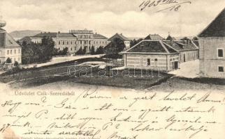 Csíkszereda, Miercurea Ciuc; látkép, Szvoboda Testvér könyvkereskedők kiadása / general view (kis szakadás / small tear)