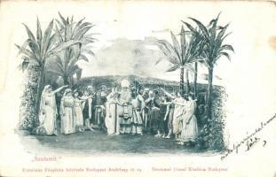 Szulamit előadás, Excelsior Fényirda felvétele, kiadja Brummel József