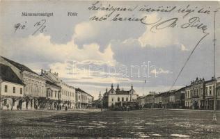 Máramarossziget, Sighetu Marmatiei; Főtér, kiadja Wizner és Dávid / main square (EK)