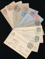 1900-1919 9 db zárt levelezőlap, benne 4 db helyi, ajánlott és válaszos, jó minőségű anyag