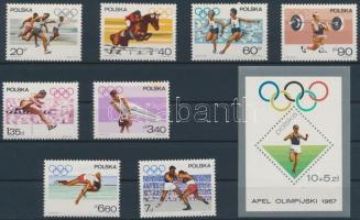 1967 Olimpia sor Mi 1761-1768 + Mi 40