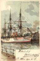 Im Ausrüstungs-Bassin / Ships. Gebrüder Obpacher No. 21463. litho s: Willy Stöwer (EK)