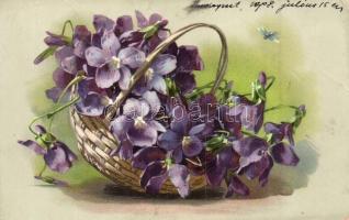 Violets, litho (EK)