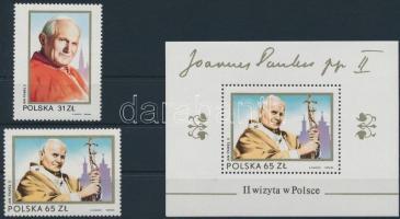 1983 II. János Pál pápa látogatása sor Mi 2868-2869 + blokk 91