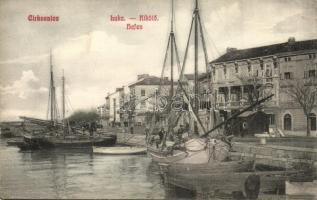 Crikvenica, Cirkvenica; Kikötő, vitorlások / port, sailing boats