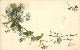 Flowers. Meissner & Buch 12 Blumen-Postkarte Serie 1028. litho