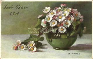 Flowers. Meissner & Buch Künstler-Postkarte Serie 1647. s: A. Hallea