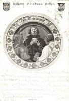 Wiener rathaus Keller. Der Weinkoster / Wine taster humour (EK)