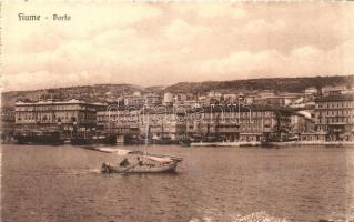 Fiume, Rijeka; Porto / kikötő, vitorlás csónak / port, sailing boat