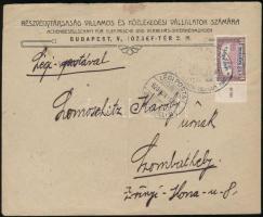 1920 Légi levél Légiposta 12K/10K bérmentesítéssel alkalmi bélyegzéssel
