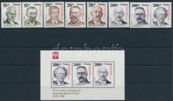 1988 70 éves a Köztársaság sor Mi 3169-3176 + blokk 107