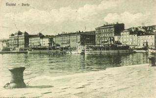 Fiume, Rijeka; Porto / kikötő, gőzhajók / port, steamships (Rb)