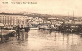 Fiume, Rijeka; Porto Nazario Sauro (ex Baross) / kikötő / port