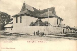 Késmárk, Kezmarok; Evangélikus fatemplom, kiadja Schmidt Edgar / wooden church (kis szakadás / small tear)