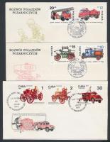 32 db Tűzoltó motívumos boríték és lap alkalmi bélyegzéssel