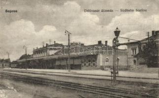 Sopron, Délivasút állomás, pályaudvar, Blum Náthán és Fia kiadása