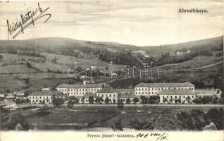 Abrudbánya, Abrud; Ferenc József laktanya. Skalangya József kiadása / military barracks