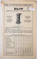 cca 1926 Pohl E. és FIai Gépgyár, Szombathely, Elit és Köpenyes Pohlmanens kályhák prospektusai, illetékbélyegekkel.