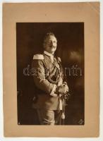 cca 1900 II. Vilmos német császár nagyméretű fotója(Original Aufnahme Voigt Hamburg), kartonra kasírozva, jelzett, 30x20 cm / Wilhelm II German Emperor, vintage photo, 30x20 cm