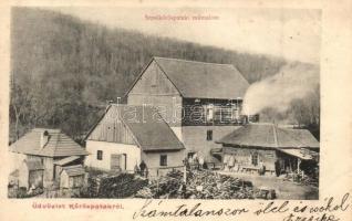 Sepsikőröspatak, Kőröspatak, Valea Crisului; műmalom / saw mill