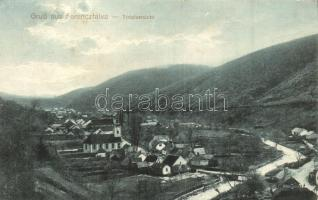 Ferencfalva, Valiug; látkép / panorama view. Verlag Krischer Kornél
