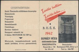1942 A Thermofix előfűtéses deuergép kinyitható kártyanaptára