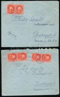 1946 2 db II. inflációs levél a 8. és 9. díjszabásból tarifahelyes bérmentesítéssel