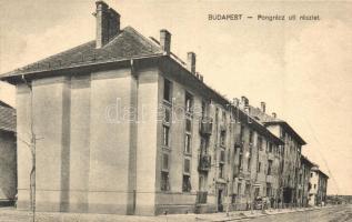 Budapest X. Pongrác úti részlet, csemegekereskedés, üzletek (fa)
