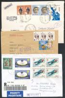 44 db külföldi ajánlott levél