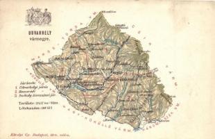Udvarhely vármegye térképe; Károlyi Gy. kiadása / Comitatul Odorheiu / Udvarhely County map
