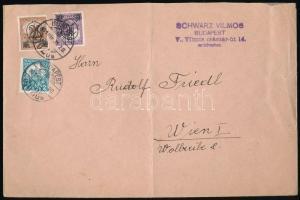 1931-1932 3 db küldemény Kisegítő bélyegek klf érdekes bérmentesítéseivel