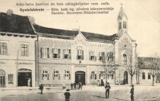 Gyulafehérvár, Alba Iulia; Római katolikus irgalmas nővérek leányneveldéje, kiadja Weisz Bernát / Catholic girls school