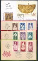 11 db blokk FDC-n + 1963 Népművészet sor 3 FDC