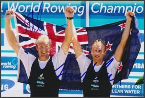 Eric Murray - Hamish Bond olimpia bajnok evezősök saját kézzel aláírt fotója 16x10 cm