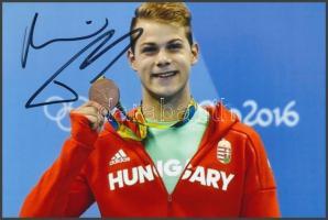 Kenderessi Tamás olimpia érmes úszó saját kézzel aláírt fotója 16x10 cm