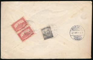 1920-1925 3 db küldemény Somogy megyében feladva TAB, kék NAGYBAJOM és BALATONBERÉNY bélyegzéssel
