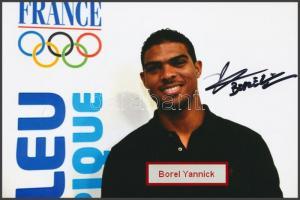 Borel Yannick olimpiai bajnok vívó saját kézzel aláírt fotója / Autograph signed photo of Olympic Games contestant 16x10 cm