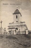 Gyimesközéplok, Középlok, Lunca de Jos; Katolikus templom, Adler és fia kiadása / church (EK)