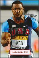 Justin Gatlin olimpiai bajnok atléta saját kézzel aláírt fotója / Autograph signed photo of Olympic Games contestant 16x10 cm