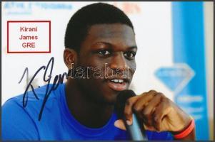 Kirani James olimpiai bajnok atléta saját kézzel aláírt fotója / Autograph signed photo of Olympic Games contestant 16x10 cm