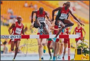 Conseslus Kipruto olimpiai atléta saját kézzel aláírt fotója / Autograph signed photo of Olympic Games contestant 16x10 cm