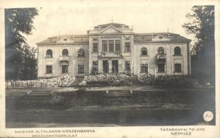 Tatabánya, Magyar Általános kőszénbánya részvénytársulat tatabányai telepe, népház (ferdén vágott / slant cut)